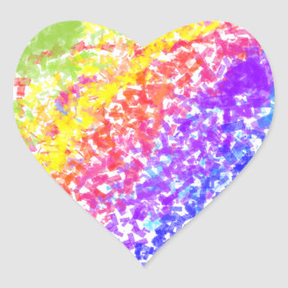 Sprinkled with Color Abstract Rainbow Splash Heart Sticker