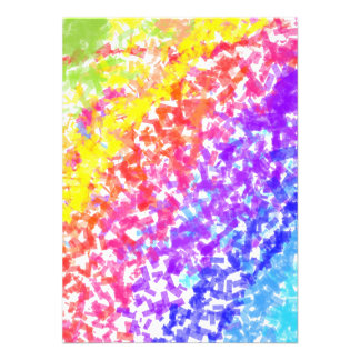 Sprinkled with Color Abstract Rainbow Splash Personalized Invite