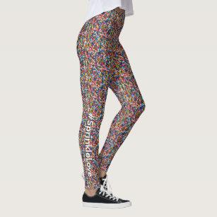 23aee5c893 #SprinkleLove Multi-Colored Fun Sprinkles Pattern Leggings