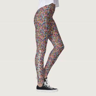 #SprinkleLove Multi-Colored Fun Sprinkles Pattern Leggings