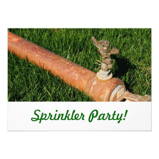 Sprinkler Party! Invitations