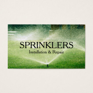 Sprinkler System Installation and Repair Business Card