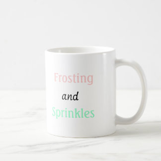 sprinkles and frosting classic white coffee mug