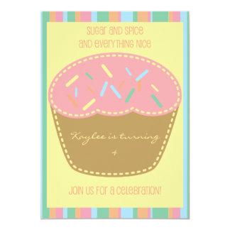 Sprinkles and Stripes Cupcake Party Invitation