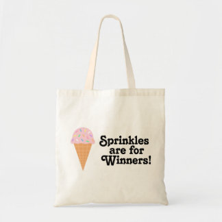 Sprinkles are for winners, Champ! Budget Tote Bag