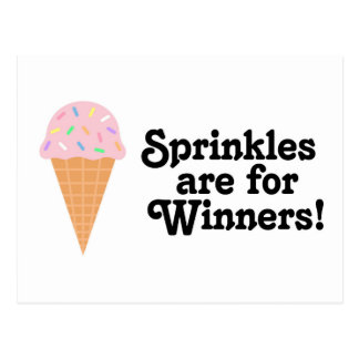 Sprinkles are for winners, Champ! Postcard