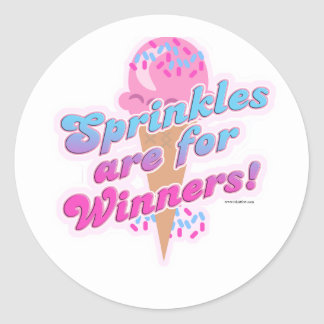 Sprinkles are for Winners Classic Round Sticker