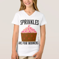 Sprinkles are for winners, Girls Cupcake t-shirts
