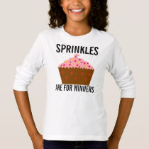 Sprinkles are for winners, Kids Cupcake t-shirts