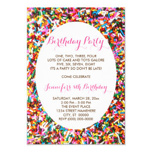 Sprinkles Birthday Party Invitation