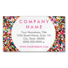Sprinkles Business Card Magnet at Zazzle