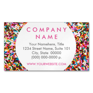 Sprinkles Business Card Magnet Magnetic Business Cards (Pack Of 25)