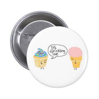 Sprinkles 2 Inch Round Button