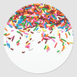 Sprinkles Classic Round Sticker at Zazzle