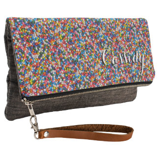 Sprinkles Colorful Bright Cheerful Young Girl's Clutch