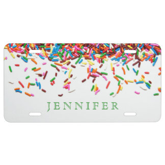 Sprinkles Custom License Plate