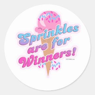 Sprinkles está para los ganadores pegatina redonda