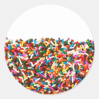 Sprinkles-Filled Stickers
