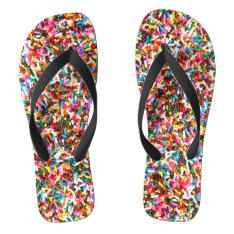 Sprinkles Flip Flops at Zazzle