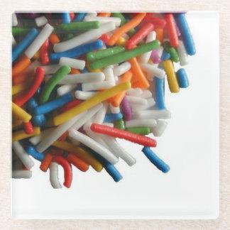 Sprinkles Glass Coaster