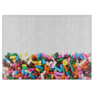 Sprinkles Glass Cutting Board