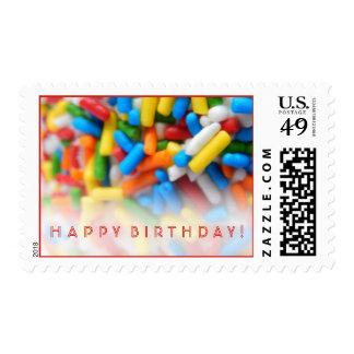 Sprinkles Happy Birthday Postage