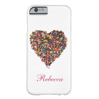 Sprinkles Heart Barely There iPhone 6 Case