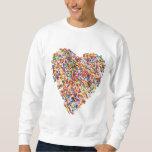 sprinkles heart pull over sweatshirt