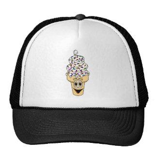 Sprinkles Ice Cream Cone Cartoon Trucker Hat