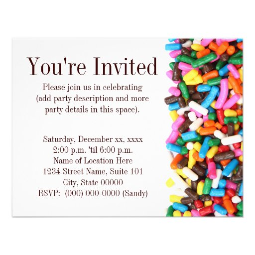 Sprinkles Invitation