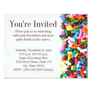 "Sprinkles Invitation 4.25"" X 5.5"" Invitation Card"