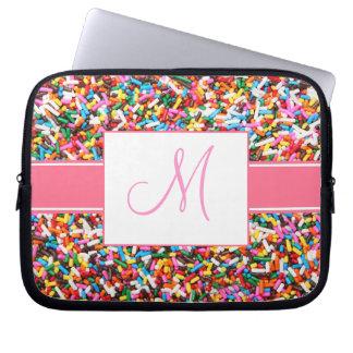 Sprinkles Monogrammed Laptop Sleeve