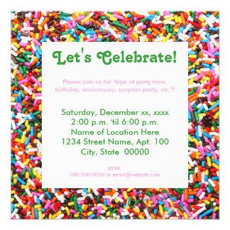 Sprinkles Party Invitations