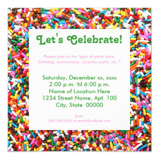 Sprinkles Party Invitations