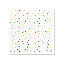 sprinkles pattern napkin