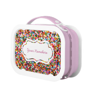 Sprinkles Personalized Lunch Box at Zazzle