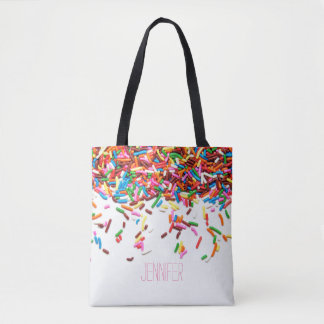 Sprinkles Personalized Tote Bag