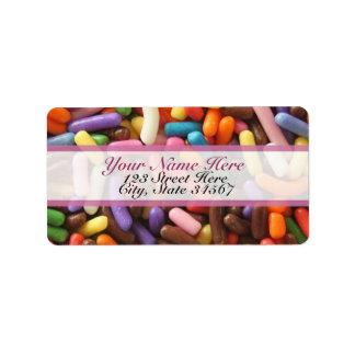 Sprinkles Rainbow Address Labels
