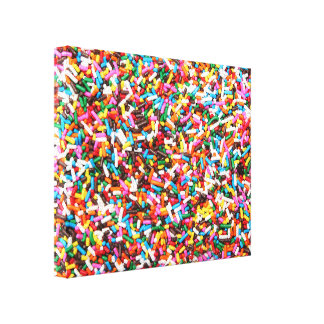 Sprinkles Stretched Canvas Print