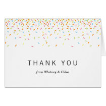 Sprinkles Thank You Card