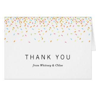 Sprinkles Thank You Card
