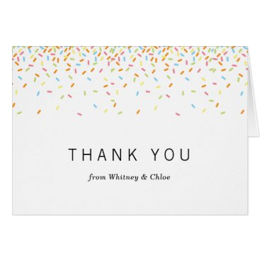 Toddler & Baby themed Sprinkles Thank You Card