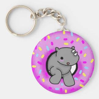 Sprinkles the Rhino Key Chains