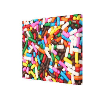 Sprinkles Wrapped Canvas Gallery Wrapped Canvas