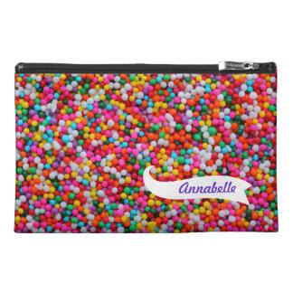 Sprinkles Zippered Name Bagette Bag! Travel Accessory Bag