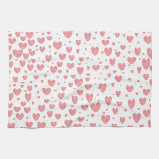Sprinkling of Hearts Kitchen Towel