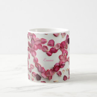 Sprinkling of rose petals mug