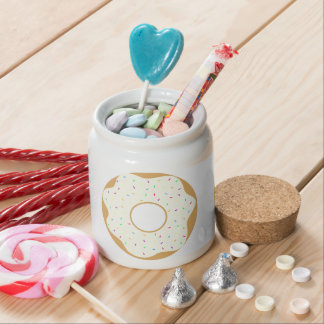 Sprinkly Donut Candy Jar