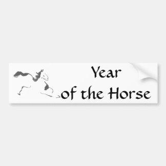 Sprint, a Galloping Horse, sumi-e Car Bumper Sticker