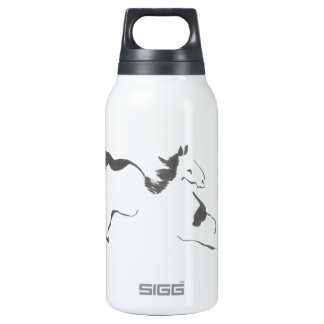 Sprint, a Galloping Horse, sumi-e Insulated Water Bottle